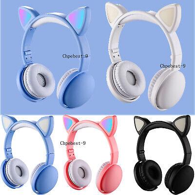 Bluetooth 5.0 5.1 Wireless Earphones Stereo Bass Glowing Ear Headphone Headsets