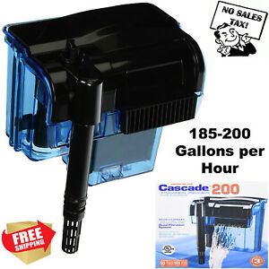 Pro 55 Gallon Fish Tank Filter Power Aquarium Pump Sterilizer Canister 200 Gph