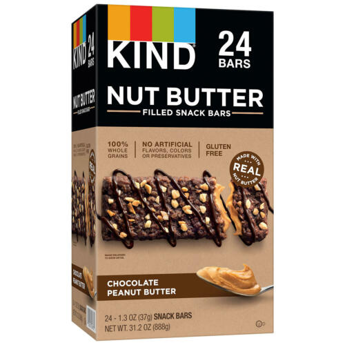 KIND Nut Butter Filled Snack Bars, Chocolate Peanut Butter (24 ct.)