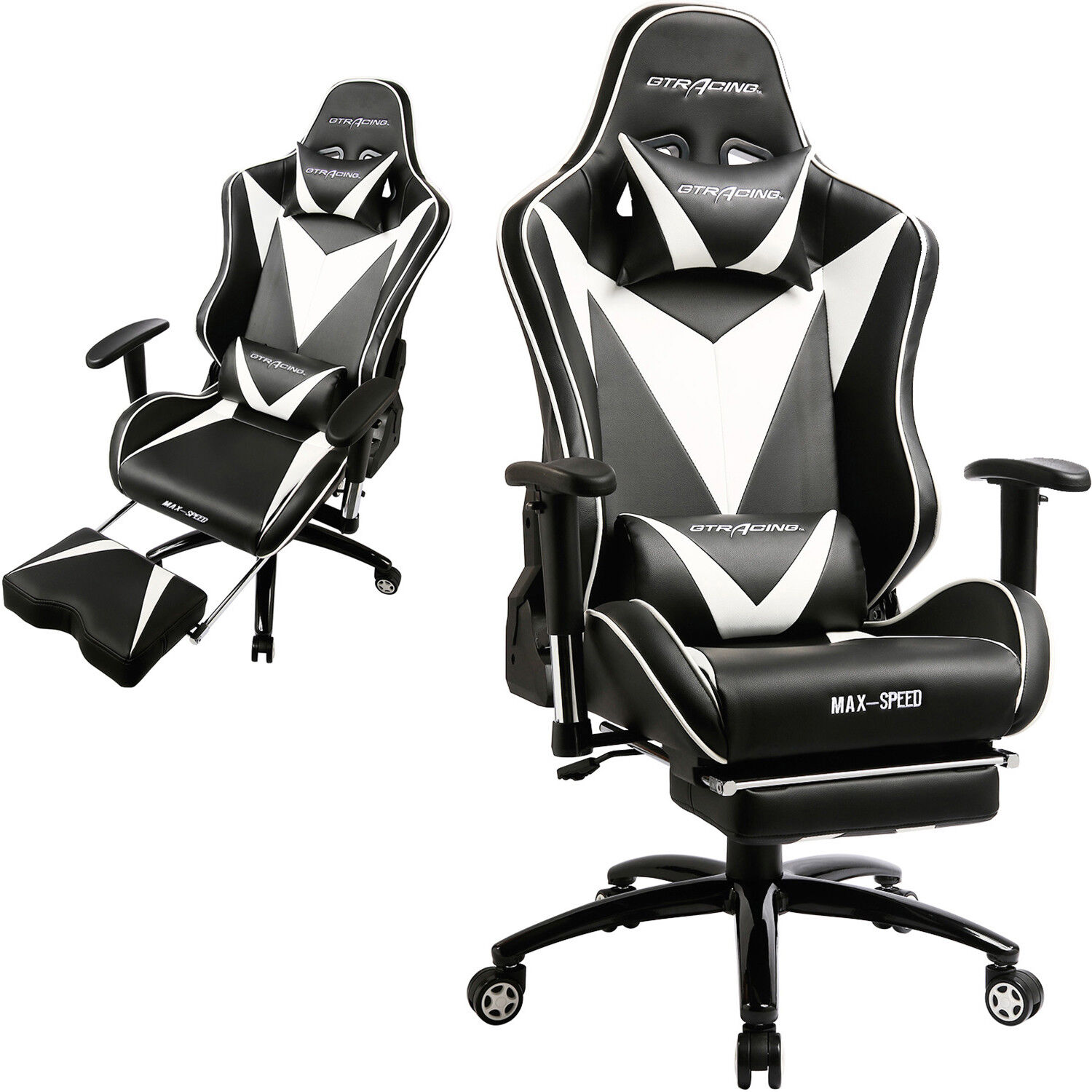 GTRacing PU Executive Gaming Chair Recliner Napping Office D
