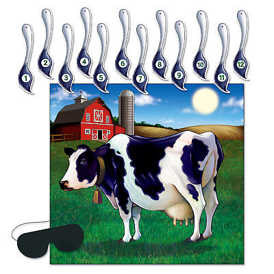 Pin The Tail On The Cow Game (Pack of - Pin The Tail On The Cow