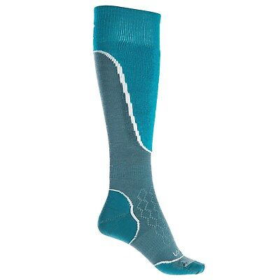 Lorpen Ski Merino Medium Sock - Lorpen Merino Wool Womens Winter Sports Light Ski Socks Medium Teal and Blue
