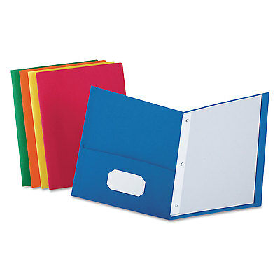 Oxford Twin-pocket Folders With 3 Fasteners Letter 12 Capacity Assorted 25box