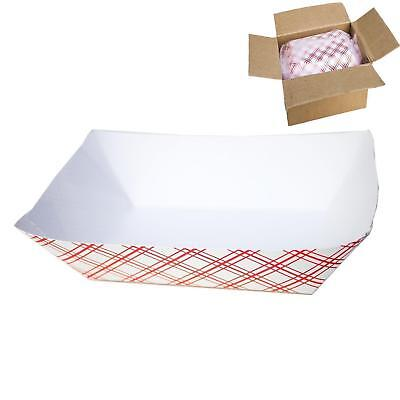 150 Disposable Cardboard Paper Food Tray Boat Baskets 2.5lbs Heavy Duty Bulk