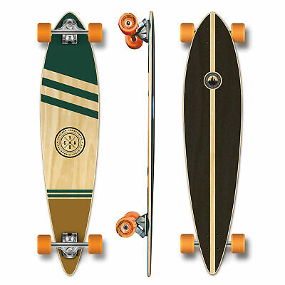 YOCAHER Pintail Longboard Complete - Earth Series - Wind (GOLD)