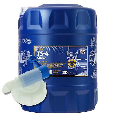 20 (1x20) Litro Mannol SAE 15W-40 Shpd TS-4 Aceite de Motor Con...