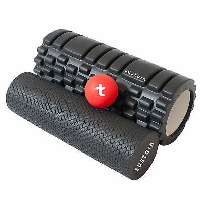 Edge Sports 2 in 1 Foam Roller + Ball | Best for Deep Tissue Muscle