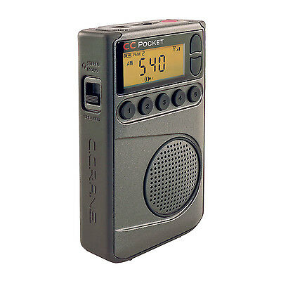 C  Crane Cc Pocket Digital Am Fm  Noaa Weather Portable Radio With Clock
