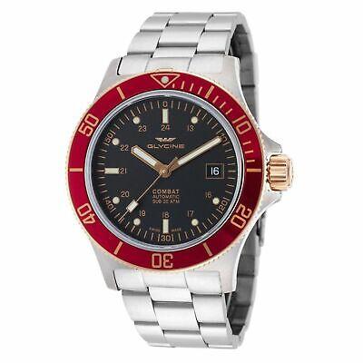 Glycine 3908.39.R.MB Men's Combat Sub Black Automatic Watch