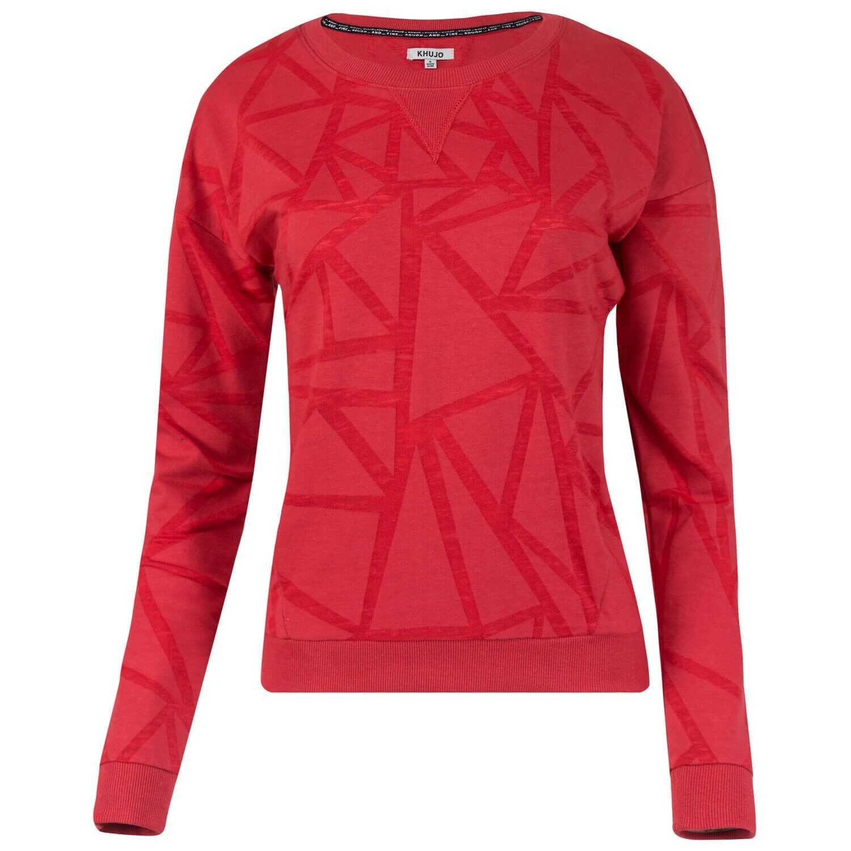 Khujo Damen Sweatshirt Pullover Sweater Damenshirt transparentes Allover-Muster