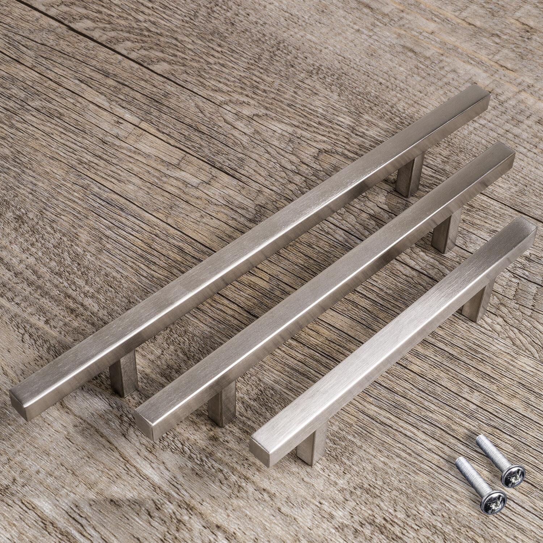 Möbelgriffe EDELSTAHL Stangengriffe 10x10 mm Küchengriffe Türgriff Relinggriff