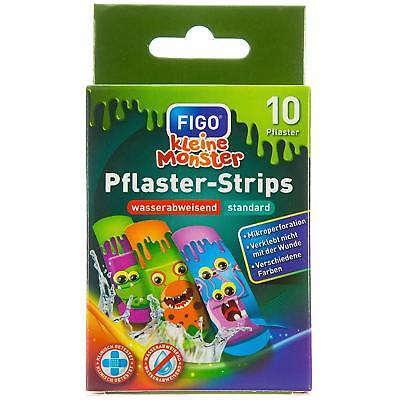 Figo Pflaster-Strips Kleine Monster 10 Pflaster