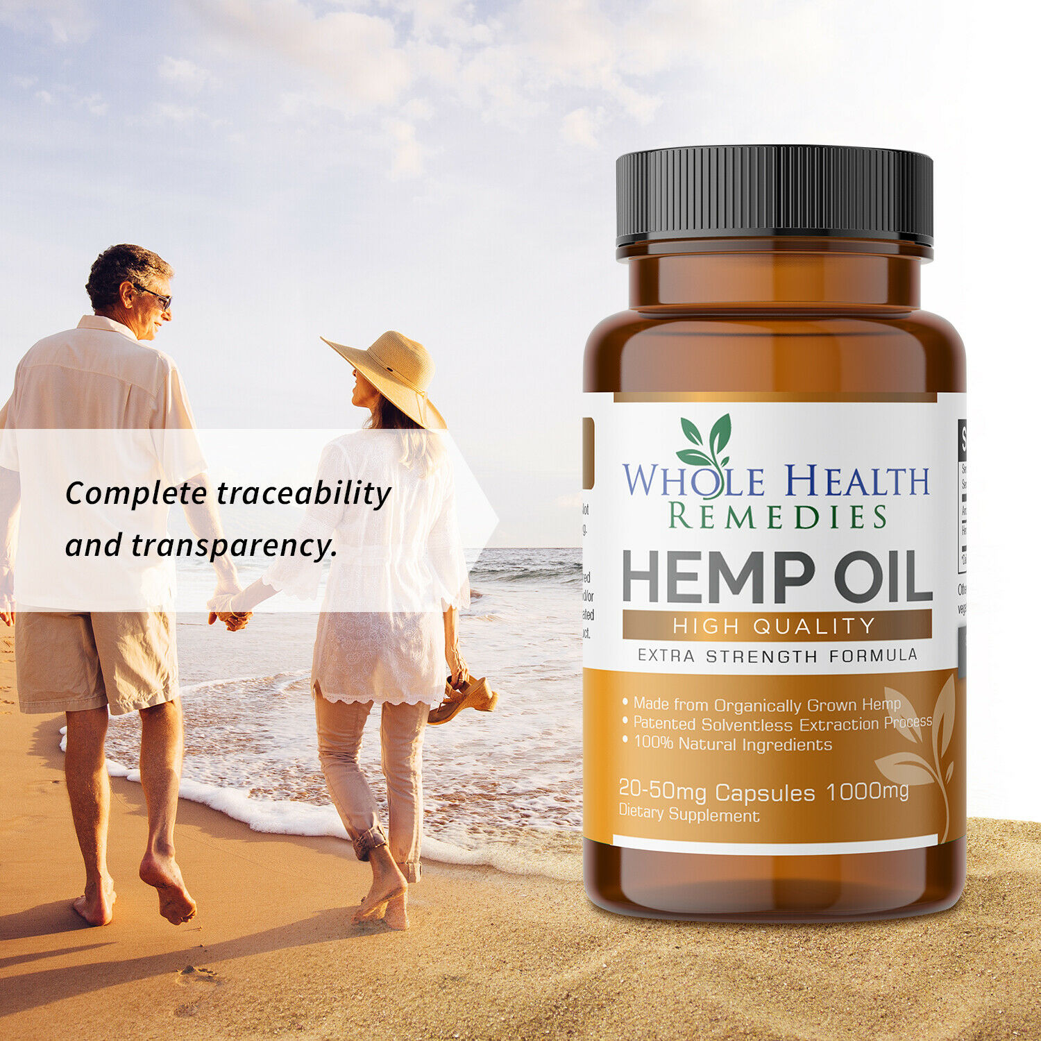100% Pure Hemp Oil Capsules for Sleep-Aid, Anxiety & Pain Relief & Stress Relief 5