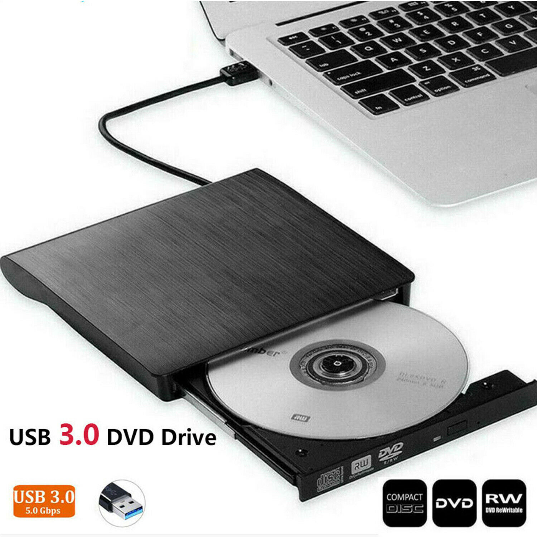 Slim External DVD RW CD Writer Drive USB 3.0 Burner Reader P