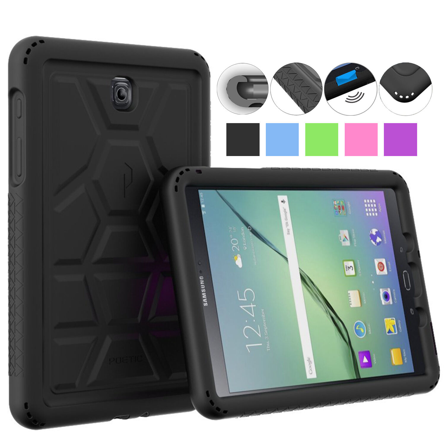 Купить Poetic Turtle Skin Corner Bumper Case for Samsung Galaxy Tab E 8.0/9.7/A 8.0/9.6