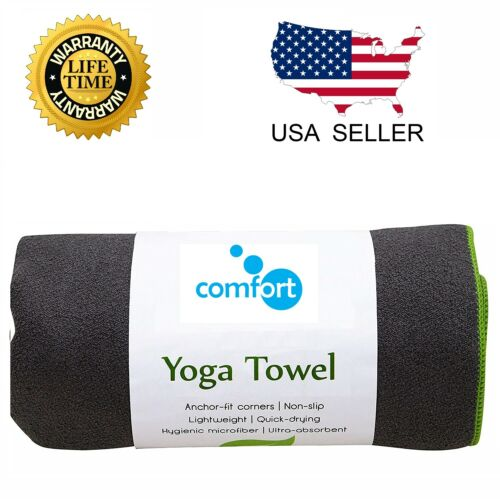 Yoga Mat Towel Non Slip Super Soft Sweat Absorbent Quick Drying Eco Friendly