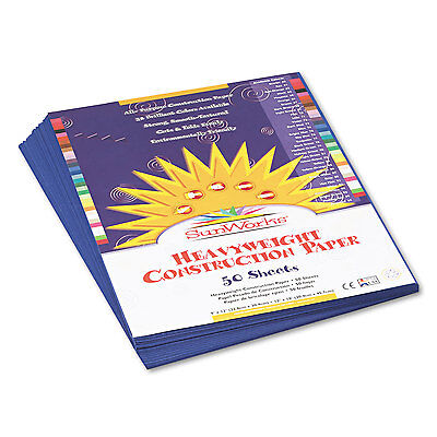 Sunworks Construction Paper 58 lbs. 9 x 12 Dark Blue 50 Sheets/Pack 7303