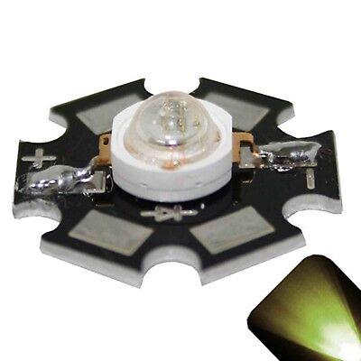 10 X Led 1 Watt Warm Soft White Star Bright Wide Angle High Power Leds 1w W Diy