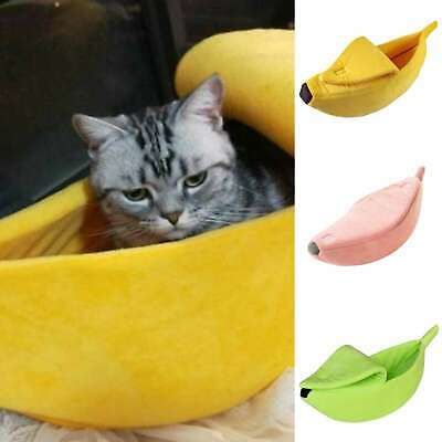 Warm Cute Pet Dog Cat Bed Nest Banana Shape Kennel Soft Plush Lovely Gift  ()