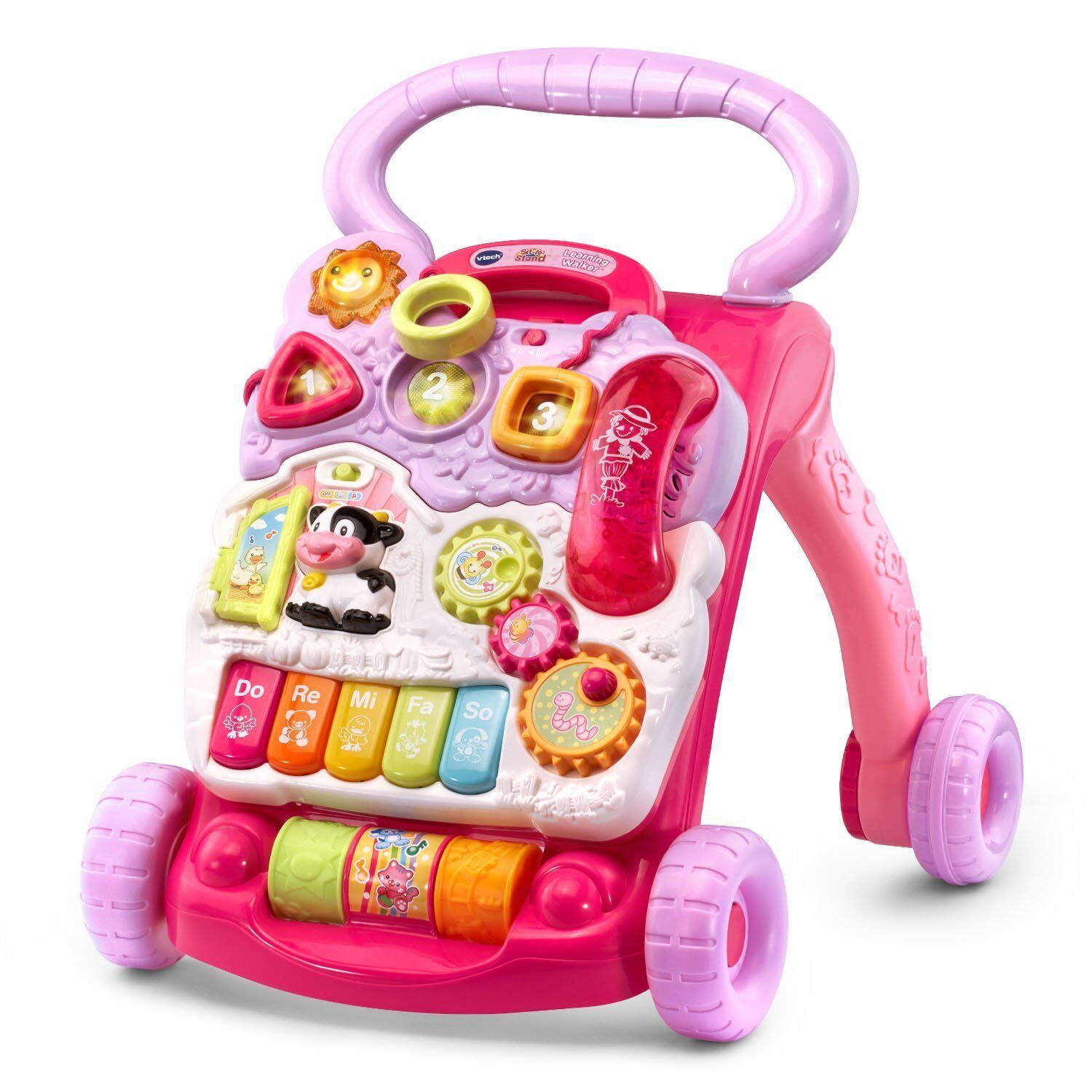 VTech Sit-to-Stand Learning Walker,  Pink Baby & Toddler Toy