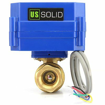 1 Brass Motorized Ball Valve Electric Valve 9v 12v To 24v 5 Wire Setup