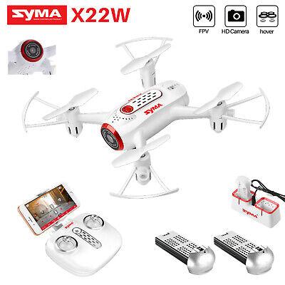 SYMA X22W HD CAMERA DRONE WIFI FPV Remote APP CONTORL RC QUADCOPTER TOYS GIFT B