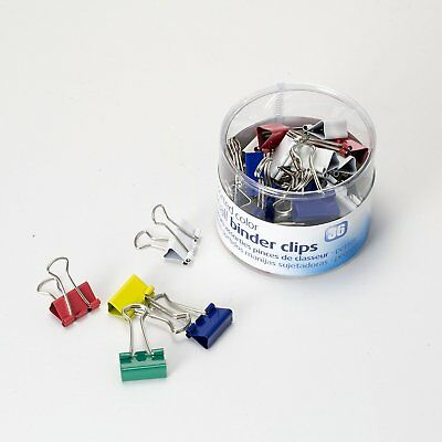 36 Pcs Small Binder Clips Assorted Colors For Document Papers Holder Office Home