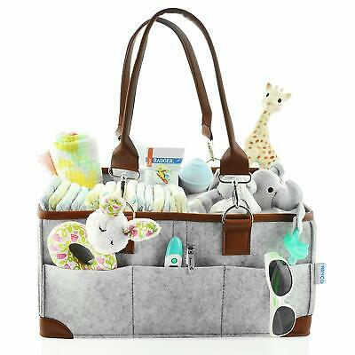 Baby Diaper Caddy Organizer - Portable Storage Basket - Essential Bag for Nur...