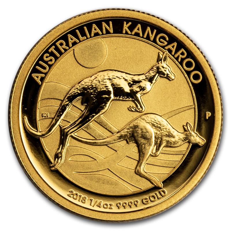 2018 Australia 1/4 oz Gold Kangaroo BU - SKU#154311
