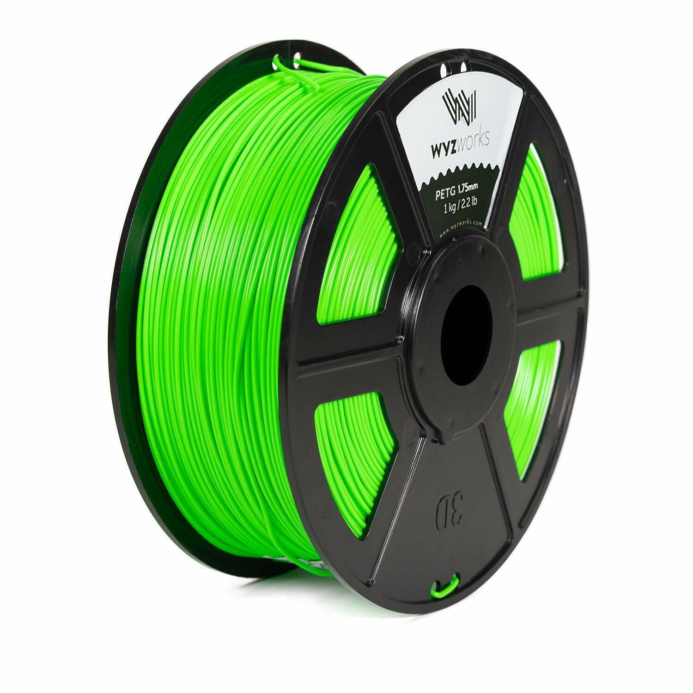 Translucent Green ABS 1.75mm WYZworks 3D Printer Premium Filament 1kg//2.2lb