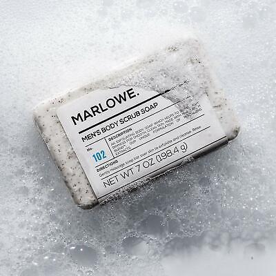 MARLOWE. No. 102 Men's Body Scrub Soap 7 oz | Best Exfoliating Bar for