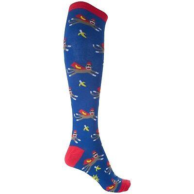 Sock it to Me Super Sock Monkey Knee-High Socks Womens One Size (4-10) - Super Sock Monkey
