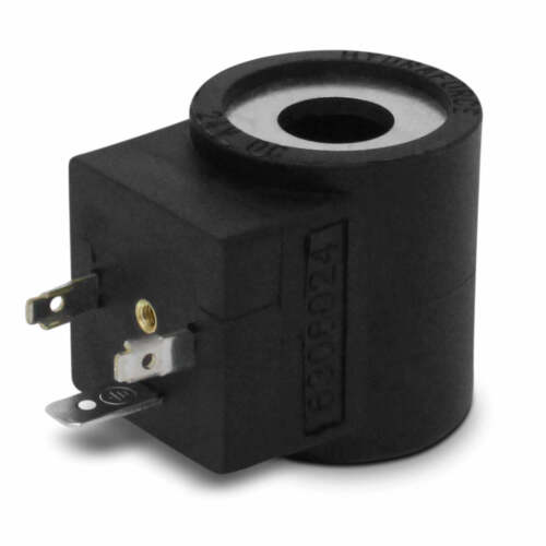 HydraForce 6306024 Solenoid Valve Coil, 3 Prong DIN Connector, 24v DC, Series 08