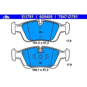 Ate Brand Front Brake Pads Bmw E36 E46 Ebay