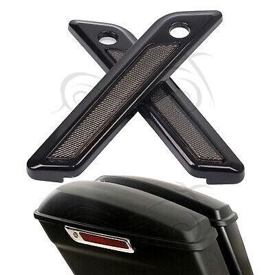 Black Saddle Bag Hinge Latch Covers For Harley Touring Street Glide FLHT - Bag Latch