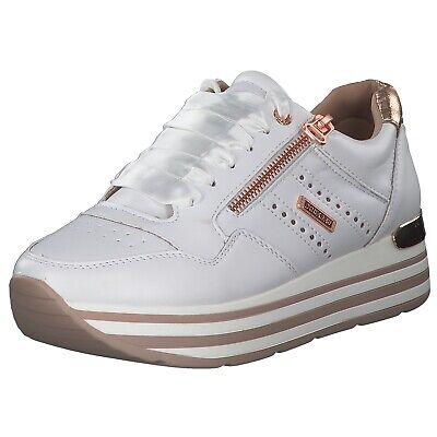 Dockers Damen Sneakers Turnschuhe Freizeitschuhe 44ca207610593/593 Weiß Rosa Neu