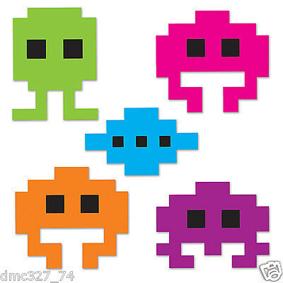 10 Totally 80s Party Decorations Arcade Video Game Icon Die Cut Mini Cutouts ](80's Halloween Party Decorations)