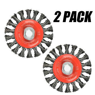 4 Twist Knotted Wire Wheel Brush Twist Wire Wheel For Grinders 58-11 Unc