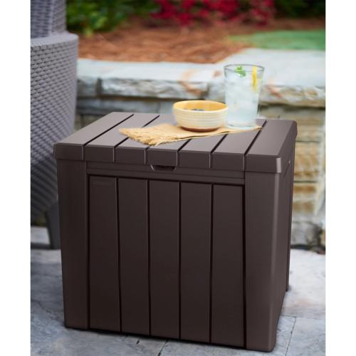 Keter Urban 30-Gallon Outdoor Deck Box/Storage Table Fast Sh