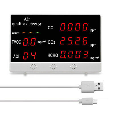 Indoor Air Quality Monitor Cohchotvoc Tester Co2 Meter Gas Analyzer