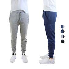 2pack Super Comfy Mens Fleece Jogger Lounging Sweatpants w/Zipper Pockets - NEW