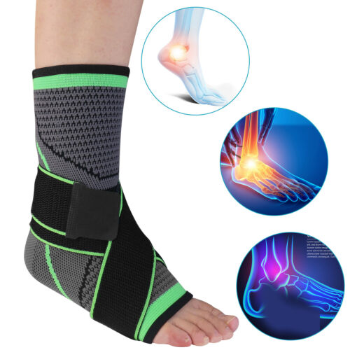 Ankle Brace Support Compression Sleeve Wrap Foot Plantar Fasciitis Pain Relief
