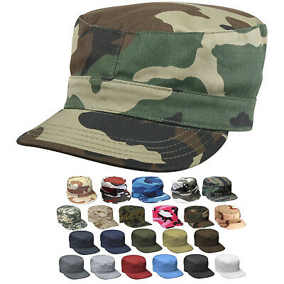 Uniform Cap Hat (Military Fatigue Cap Tactical Uniform Hat Army Field Patrol Camouflage Fitted )