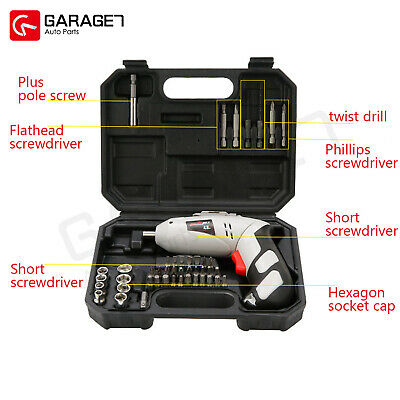 Cordless Drill Driver Kit Electric Impact Drill Power Driver Screw Repair Tools