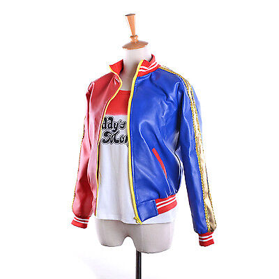 Suicide Squad Harley Quinn Property of Joker Bomber Jacket embroided Costume - Costume Of Joker