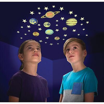 Sticker Planeten und Sterne mit Glow in the Dark Effekt Aufkleber im 43er Set
