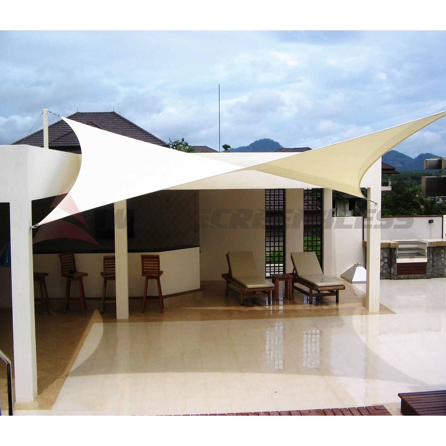 sun shade sail fabric outdoor garden canopy patio pool awning cover 12 39 16 39 18 39 ebay. Black Bedroom Furniture Sets. Home Design Ideas