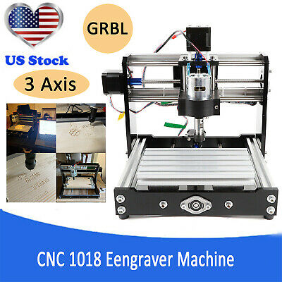 3 Axis Cnc Router 1018 Mini Engraving Machine Milling Engraver Pcb Wood Diy Kit