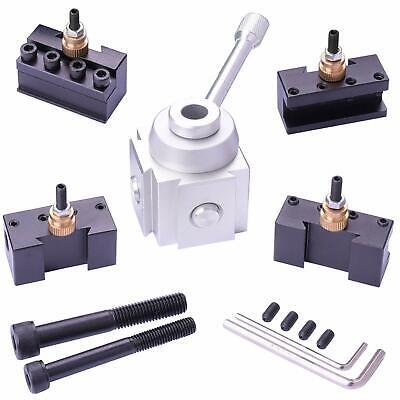 Mini Lathe Quick Change Tool Post Holder Metal Work Tool Multifid Tooling Pack