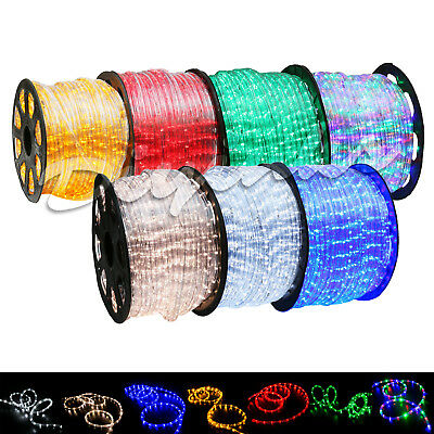 LED Rope Light 2Wire 110V Lighting Outdoor Xmas Christmas 10/25/50/100/150/300ft - Xmas Lights Outdoor